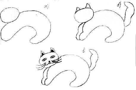 Рисунки карандашом для срисовки очень легкие и красивые животные злые