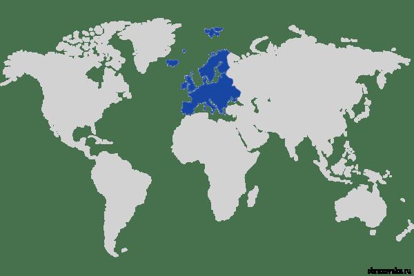 Mapa Fizyko Geograficzna Europy Zachodniej Mapa Fizyczna Obcej Europy