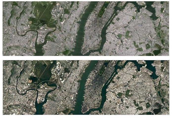 Mapa Vystrelena Z Vesmiru V Realnom Case Mapa Ruska Zo Satelitov