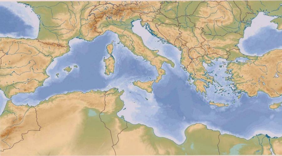 Mare Mediterraneo Cartina.Gzrkfrvollasm