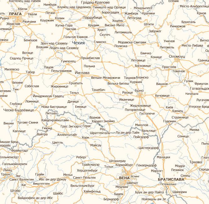 Szczegolowa Mapa Europy W Jezyku Rosyjskim Mapa Fizyczna Obcej Europy