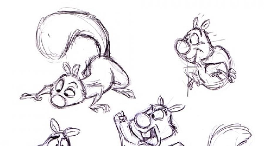 حيوانات لطيفة مرسومة بالقلم الرصاص نعلم الأطفال رسم حيوانات