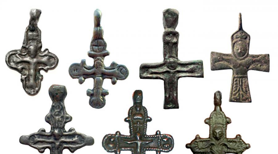 Constantine cross meaning. Old Russian pectoral crosses